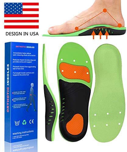 - Plantar Fasciitis Inserts Arch Support Shoe Sports Inserts Orthotic Inserts Shoe Insoles Women Men for Plantar Fasciitis High Arch Foot Pain Relieve