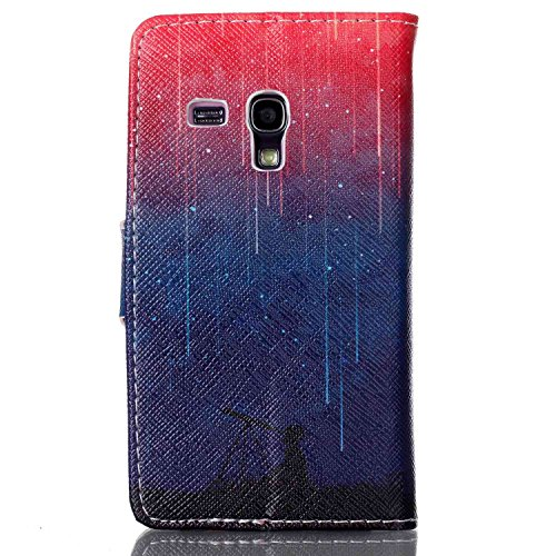Leder Hülle für Samsung Galaxy S3 Mini,Blumen Hülle für Samsung Galaxy S3 Mini,Glitzer Hülle für Galaxy S3 Mini,Galaxy S3 Mini Leder Handy Wallet Tasche Flip Cover Etui Case,EMAXELERS Galaxy S3 Mini H Animal 7