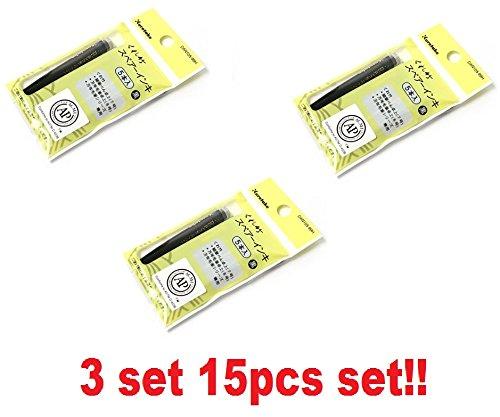Refill Shipping Pen ([3 Set!!! / 15pcs!!!] Kuretake Sumi Brush Pen Refill Ink Cartridges DAN105-99H from Japan)
