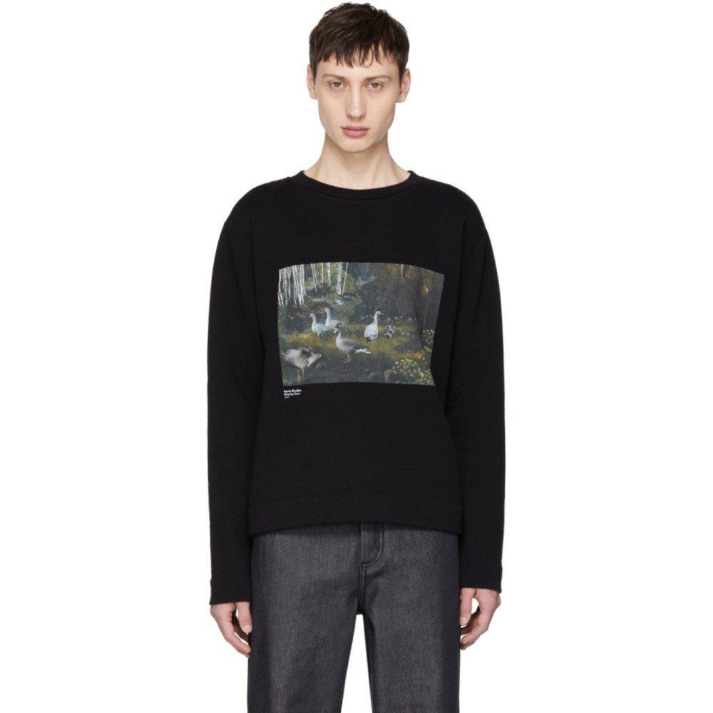 (アクネ ストゥディオズ) Acne Studios メンズ トップス スウェットトレーナー Black Oslavi Grazing Geese Sweatshirt [並行輸入品] B07D15RCDV M