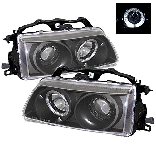 (ZMAUTOPARTS Honda Crx Civic Halo Projector Headlights JDM Black CX DX LX Rt SE Hf Si )