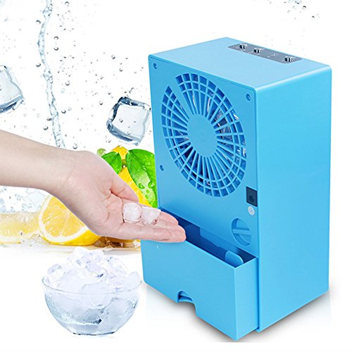 Mini Portable Air Conditioner Fan, Air Personal Space Cooler Small Desktop Fan, Quiet Personal Table Fan Mini Evaporative Air Circulator Cooler Humidifier, For Home Office by Carole4
