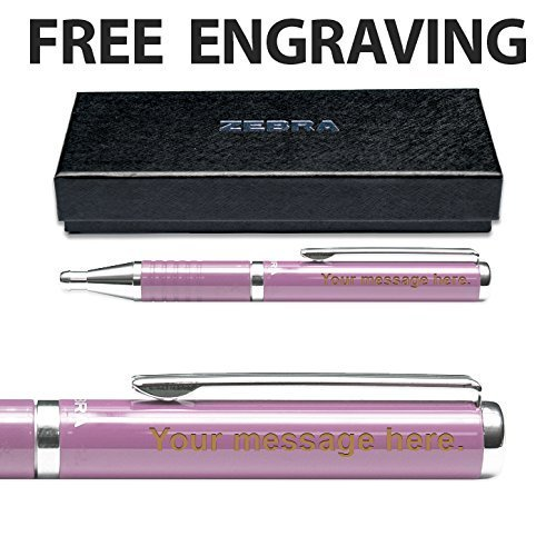 Zebra Expandz Ballpoint Pen Free Engraving Pink -