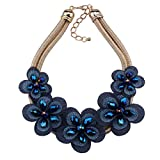 KTYX European and American Flower Necklace Multi-Layer Short Paragraph Wild 87cm Jewelry