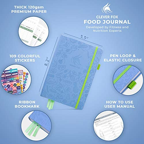 Clever Fox Food Journal - Daily Food Diary, Meal Planner to Track Calorie and Nutrient Intake, Stick to a Healthy Diet & Achieve Weight Loss Goals 3