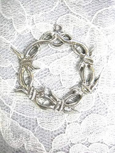 New XL Barbed Wire Barb Wire Round USA Pendant ADJ Necklace Metal Jewelry KEZ-2