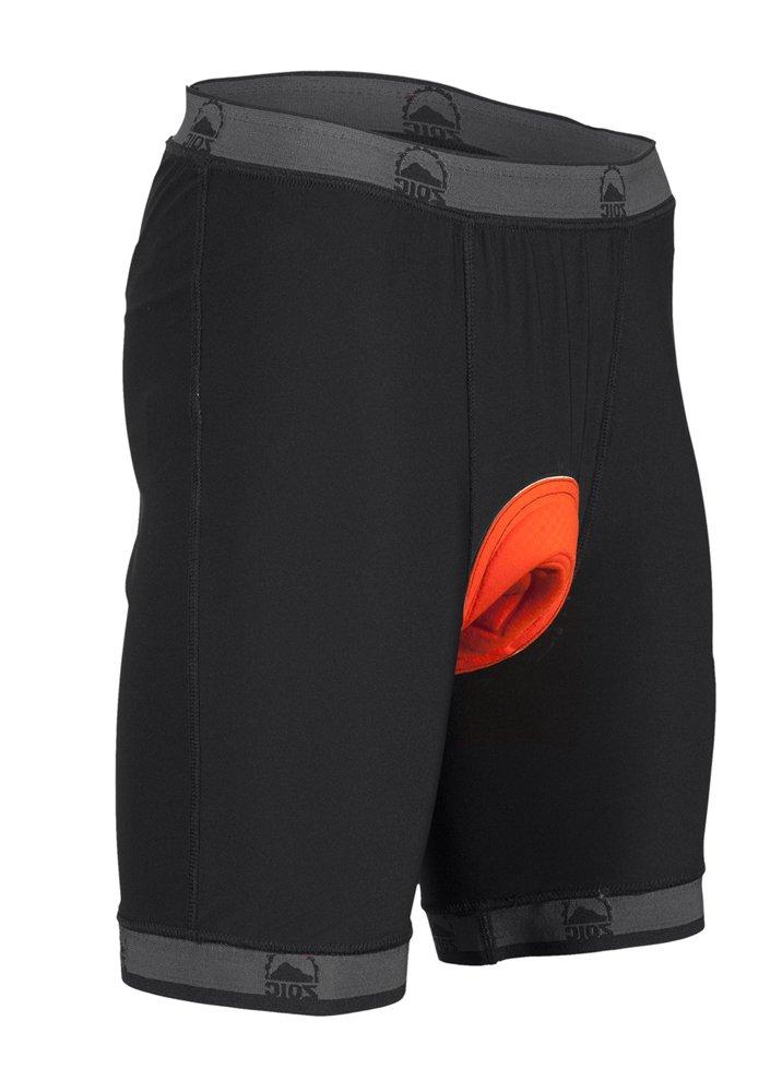 Zoic Men's Premium Liner Shorts, Black, Medium