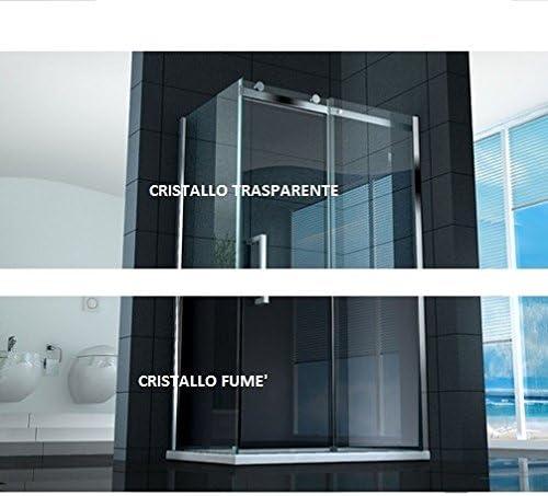Mampara de ducha corredera 8 mm, apertura de 75 x 120 x 90 x 110 ...