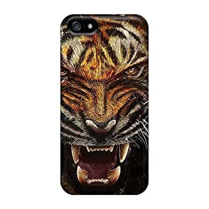High Grade DrunkLove Flexible Tpu Case For Iphone 5/5s - Tiger Backgrounds