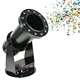IXAER 1200W Confetti Launcher Machine Professional Confetti Cannon Machine with LED Light Wireless DMX Control for Party Wedding Concerts Celebration Special Events Stage Effect Confetti Shot Shooter
