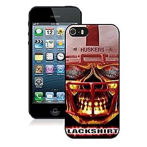 Ncaa Big Ten Conference Football Nebraska Cornhuskers 14 Black Cool Customized Design iPhone 5S Case