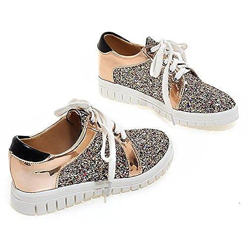 SFNLD Womens Trendy Round Toe Low Cut Platform Fringe Slip On Loafers Shoes