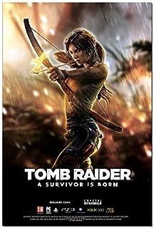 "Lara Croft Tomb Raider Movie Silk Fabric Poster 11/""x17/"" Angelina Jolie"
