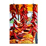 Red Hot Spicy Pepper Chili Spice Matte/Glossy Poster A1 (24x33 inches) | Wellcoda