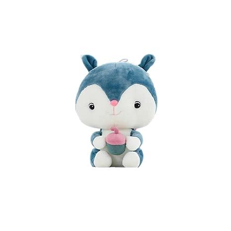 1ee93904bc5c Amazon.com: Plush Toy Cartoon Squirrel Doll-Judy Dre am Soft Cute Blue  Animals Toys PP Cotton Stuffed Dolls Birthday/Christmas Gift for Kid/Girlfriend  ...