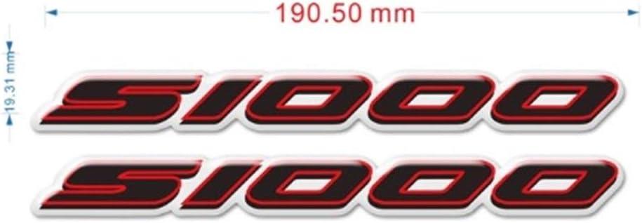 Color : R for BMW S 1000 R S1000RR S1000XR HP Motorrad-Aufkleber Seitenwand-Schutz-Verkleidungs-Emblem-Beh/älter-Auflage-Schutz S 1000 RR R XR