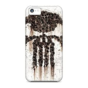 Apple Iphone 5c YdH2680DBnm Allow Personal Design Trendy Punisher Bulletholes Series Protective Hard Cell-phone Cases -LeoSwiech