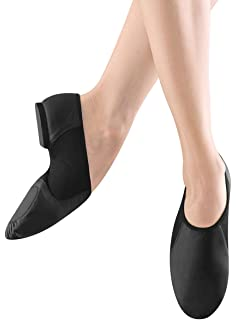 89e34c16fc610 Bloch Dance Women's Neo-Flex Leather and Neoprene Slip On Split Sole Jazz  Shoe