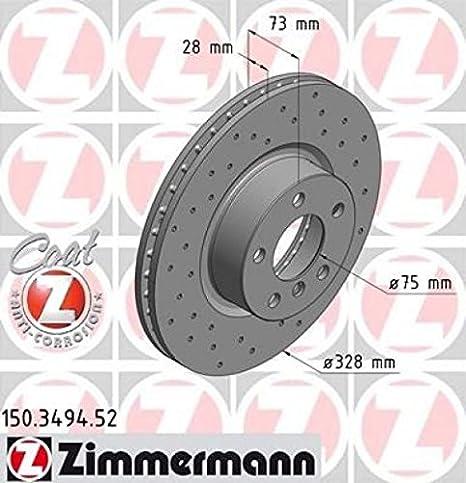 Zimmermann 150 3494 52 Vorne Bremse Perforiert Sport Coat Z Auto