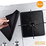 """5 burner stove top cover - Gas Stove Burner Covers Liners Stove Top Covers for Gas Burners - 0.2 mm Gas Stove Range Pilot Protector Double Thickness, Reusable, Non-Stick, Easy to Clean Oven Liners 10.6"""" x 10.6""""(8Pack)"""