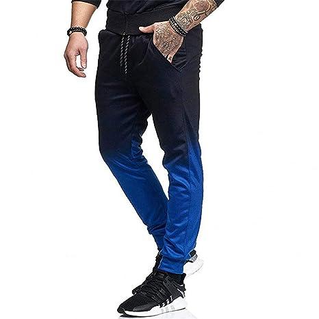 L_shop - Pantalón de Fitness Degradado Casual Gym Fitness pantalón ...