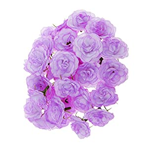 MagiDeal Artificial Faux Silk Rose Flower Heads Bulk Wedding Party Decor Lilac Pack of 50 101