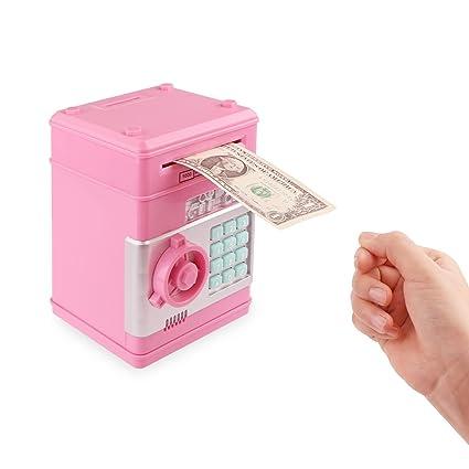 Frontoppy Hucha Electrónica con Combinación - Caja de Seguridad con Contraseña Personalizada, ATM Ahorro de