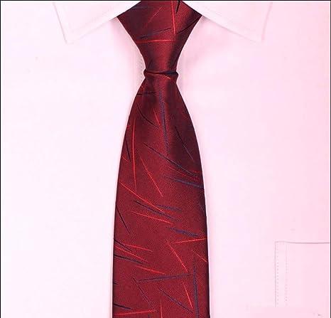 pyty123 Lazy Zipper Red Tie Hombres Ropa Formal Negocios Novio ...