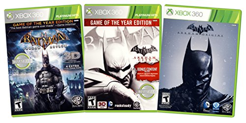 360 Asylum Arkham Xbox (Batman Value Pack: (Arkham Asylum / Arkham City / Arkham Origins) (3-Pack) (Xbox 360))