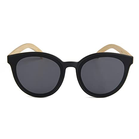 BAOLH Gafas de Sol Simple Cat Eyes Style Bamboo Leg Gafas de ...