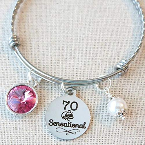 70th BIRTHDAY Gift For Her Milestone October Birthday Gifts Friend 70 And Sensational