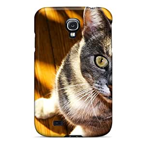 Galaxy S4 NGzuF12216wxbip Cat In The Shadows Tpu Silicone Gel Case Cover. Fits Galaxy S4