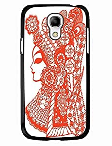 Traditional Chinese Series TPU Case For Samsung Galaxy S4 Mini I9195 With Peking Opera Actor Paper Cutting Image Background Design