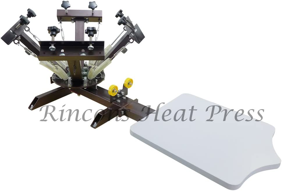 Rincons 4 Color 1 Station Silk Screen Printing Press