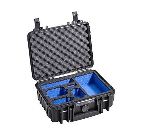 B&W Outdoor Cases Typ 1000 mit individuellem Einsatz für GoPro Hero 1 & 2