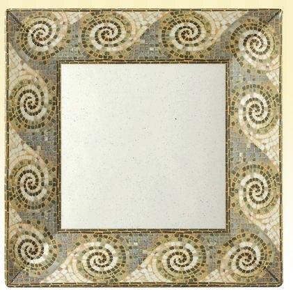 GET Enterprises inc Mosaic Melamine Square Plate, 6 inch - 12 per (Mosaic Melamine Square Plate)