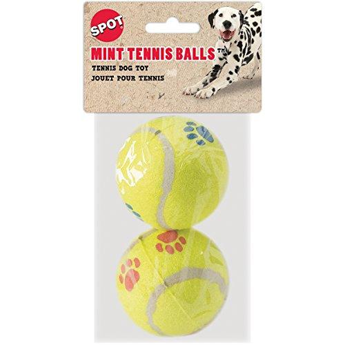 Ethical Mint Flavor Pawprint Tennisball for Dogs, (Paw Print Tennis Balls)