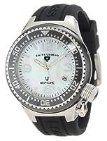 Swiss Legend Women's 11844-BKWSA Neptune White Mother-Of-Pearl Dial Watch from Swiss Legend