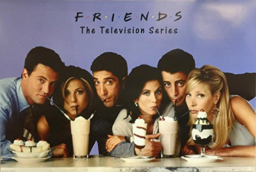 Friends TV Show Milkshake Classic 36x24 Art Print Poster Wall Decor Rachel Joey Phoebe Monica Chandler - St Images Monica