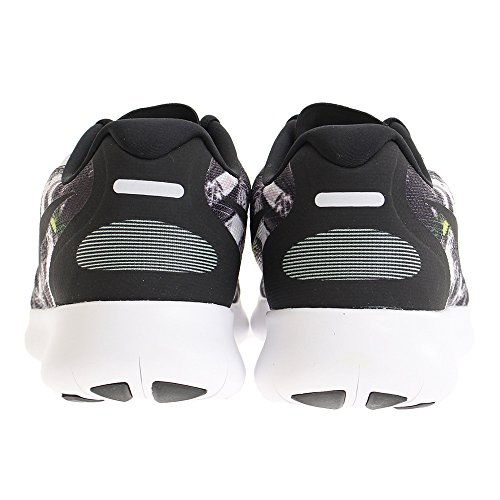 Nike Mens Free Rn 2017 Solstice, Nero / Nero-bianco-a Malapena Volt Nero / Nero-bianco-appena Volt