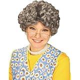 Forum Novelties Women's Yo Momma Curly Costume Wig, Gray, One Size