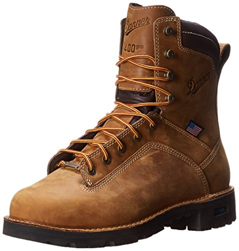 Danner Men's Quarry USA 8 Inch 400G Work Boot,Distressed Brown,10.5 D - Usa Brown