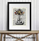 Steampunk Decor - Dirigible Poster - 8x10 Victorian
