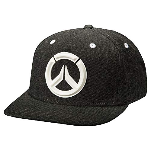 JINX Overwatch Sonic Snapback Baseball Hat, Gray, One Size