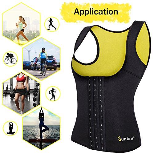 2b80c00e2f48a Junlan Women Neoprene Waist Trainer Vest Corset Tank Top Sauna Body Shaper  Weight Loss lovely