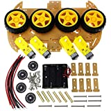 Smart Car Kit with Speed Encoder 4WD Smart Robot Car Chassis Kits and Battery Box for arduino Diy Kit