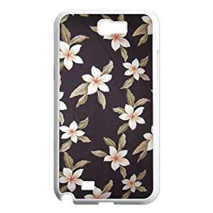 Red Hawaii Flower Original New Print DIY Phone Case for Samsung Galaxy Note 2 N7100,personalized case cover ygtg606100