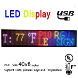 programmable LED sign 40'' x 8'' outdoor P10 RGB full color SMD led scrolling display message board Perfect solution for advertising