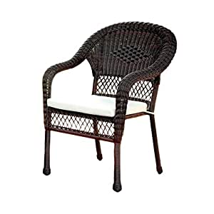 Furniture of America Muebles de América Phoebe Mimbre Patio sillón, marrón.