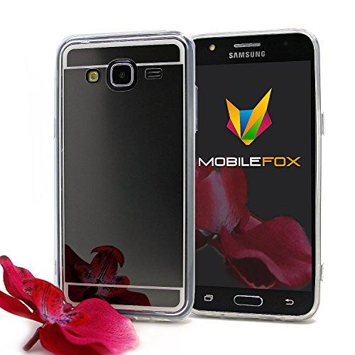 Mobilefox Schneewittchen Schutzhülle Spiegel TPU Case Samsung Galaxy J5 Schwarz